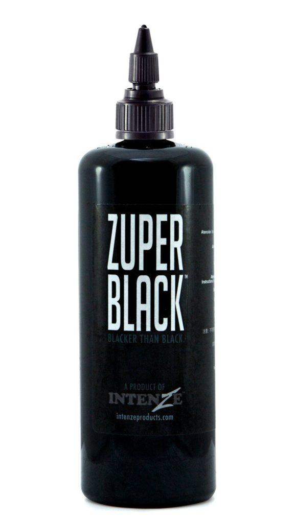 best black tattoo ink (zuper black, intenze)