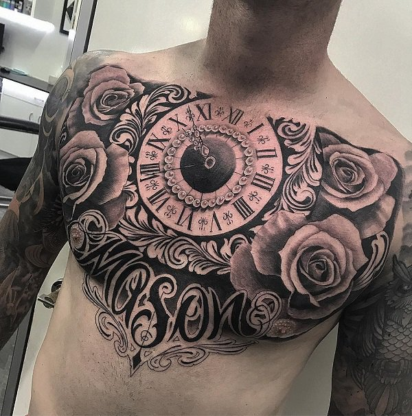 111 Amazing Chest Tattoo Designs For Man And Woman