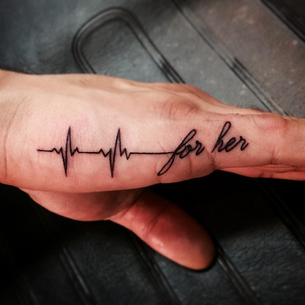 100 Amazing Heartbeat Tattoo Designs For Man And Woman