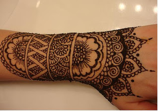 Indian henna tattoo design
