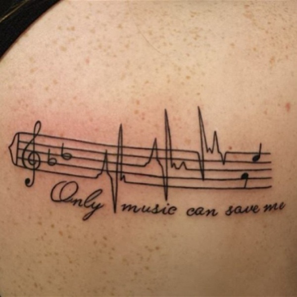 Music Notes Tattoo for men and women