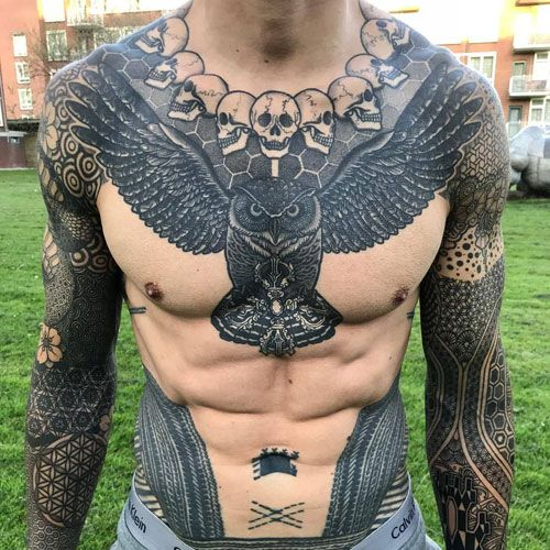 Eagle Belly Tattoo for men