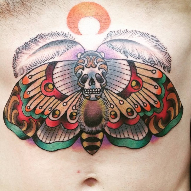 Butterfly Stomach Tattoo designs
