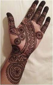 Indian henna tattoo design for women